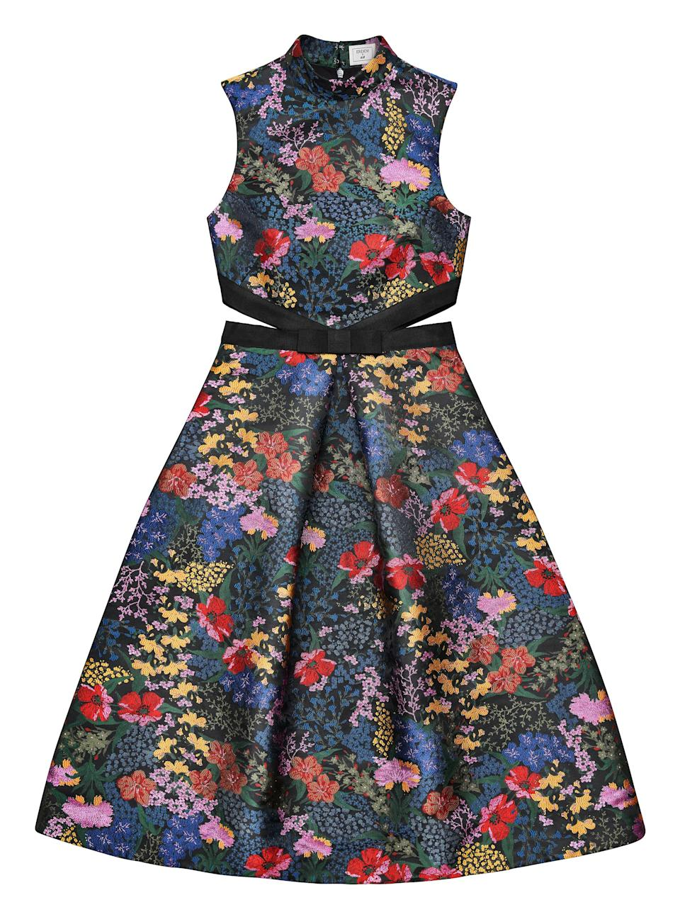 """<p>When you think of Erdem, what first springs to mind? Florals, of course. And the first item on our wish list is this cut-out sleeveless dress. We'll be teaming ours with box-fresh trainers and heels come evening. <em><a rel=""""nofollow noopener"""" href=""""http://www2.hm.com/en_gb/index.html"""" target=""""_blank"""" data-ylk=""""slk:H&M"""" class=""""link rapid-noclick-resp"""">H&M</a>, £119.99</em> </p>"""