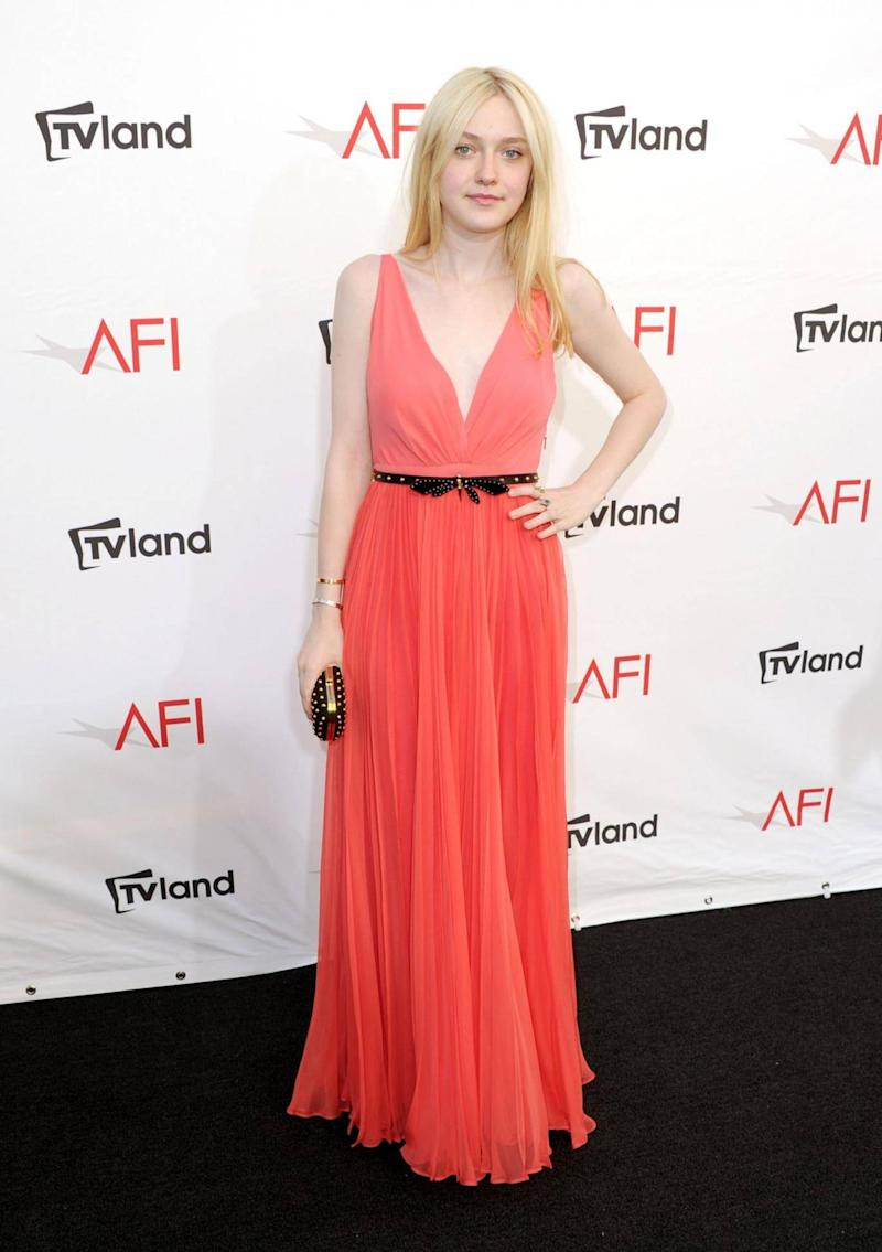 Dakota Fanning at the 40th AFI Life Achievement Award in 2012 (Getty Images)