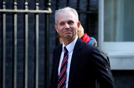 FILE PHOTO: Britain's Minister for the Cabinet Office David Lidington is seen outside Downing Street in London