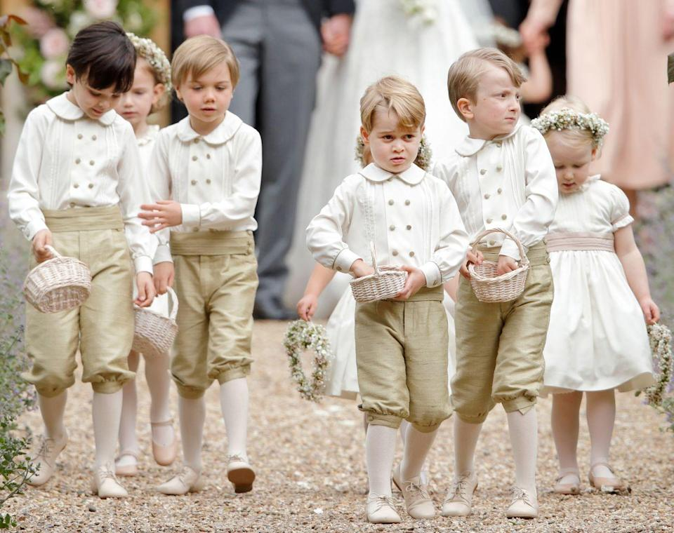<p>Prince George led the pageboy crew.</p>