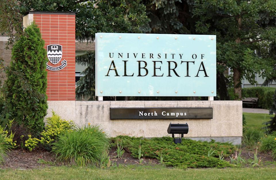 A sign at an entrance to the University of Alberta is seen in this undated photo. (Photo: Jeffrey Beall)