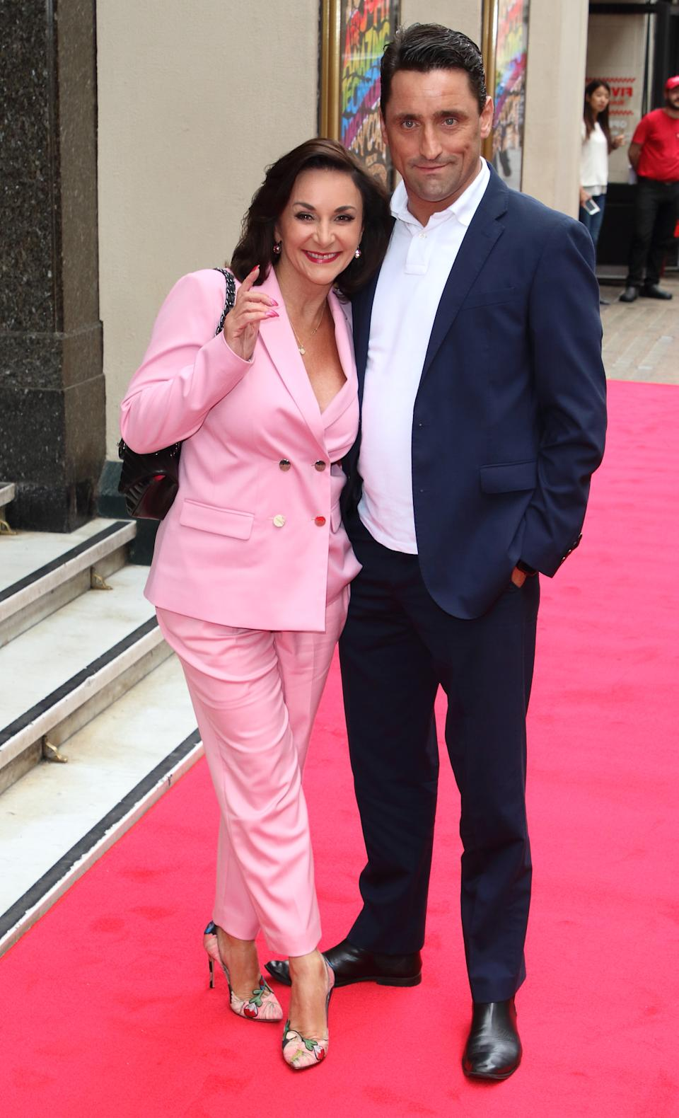 LONDON, UNITED KINGDOM - 2019/07/11: Shirley Ballas and Daniel Taylor attend the Joseph and the Amazing Technicolor Dreamcoat Press Night at the London Palladium. (Photo by Keith Mayhew/SOPA Images/LightRocket via Getty Images)