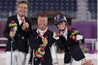 <p>A wonderful debut bronze for Georgia Wilson and horse Sakura, and gold for dressage veteran Lee Pearson and Breezer.</p>