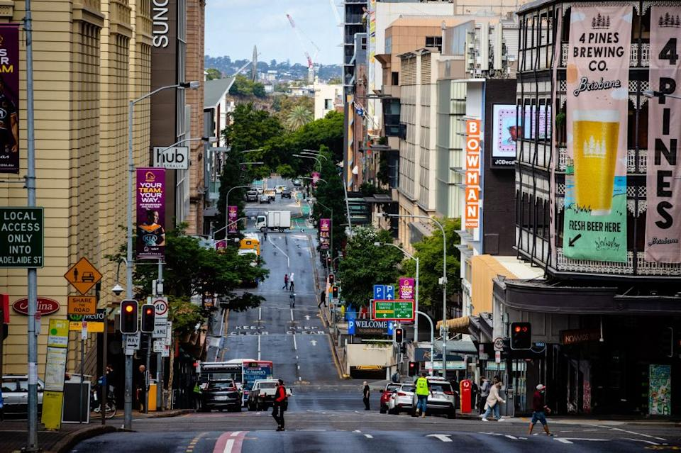 A street is seen in Brisbane's central business district on June 30, 2021. Source: Getty