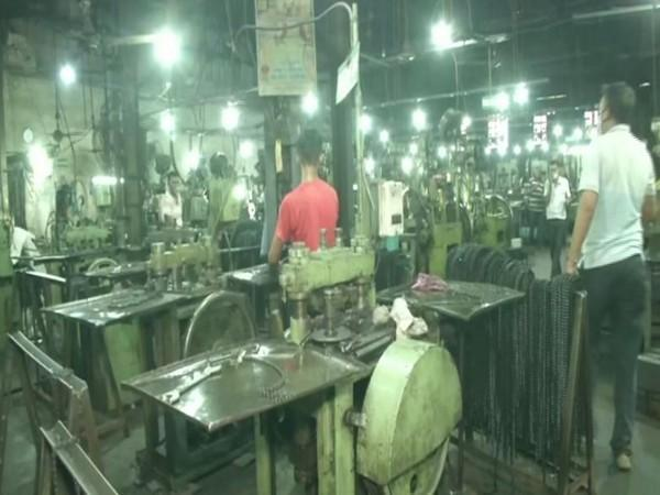 Visual of a cycle factory in Ludhiana (Photo/ANI)