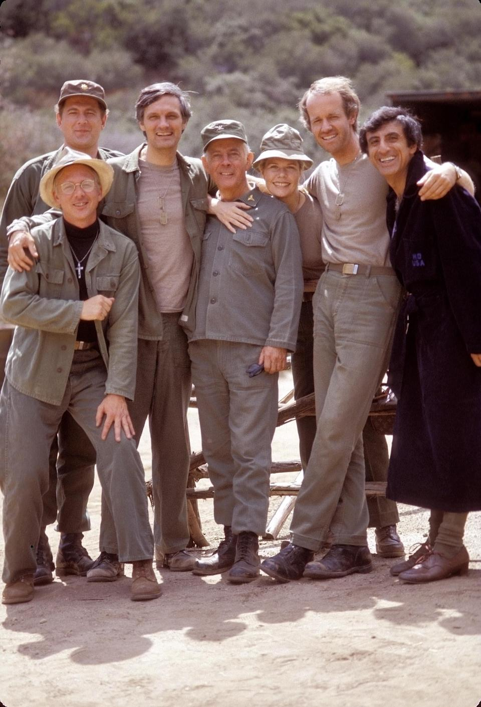 Father Mulcahy (William Christopher), left front, Colonel Potter (Harry Morgan), center, and Corporal Klinger (Jamie Farr), right, fared better in war on 'M*A*S*H' than in peace on 'AfterMASH.'