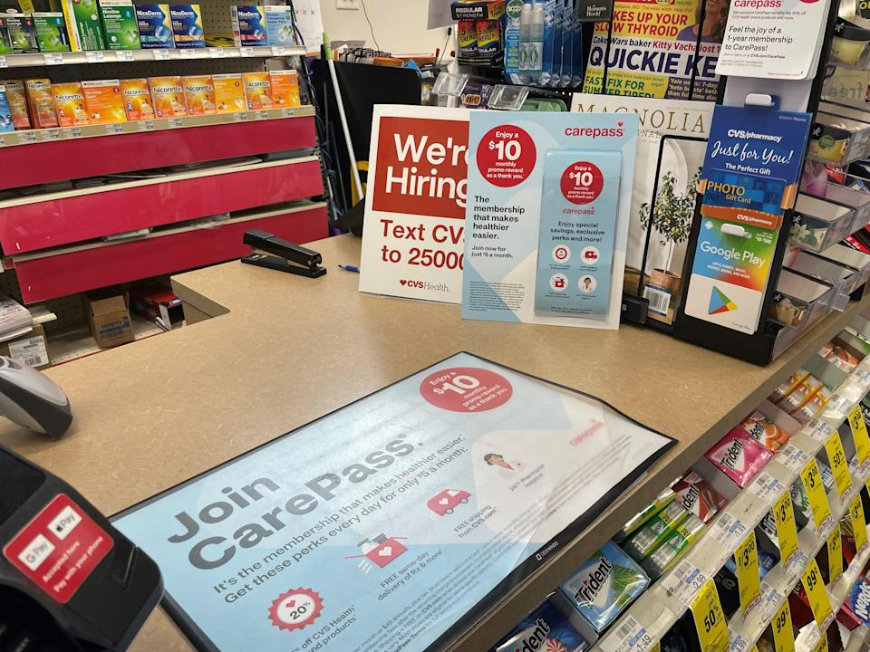 CVS also has a paid membership program, CarePass, in addition to its ExtraCare rewards program.