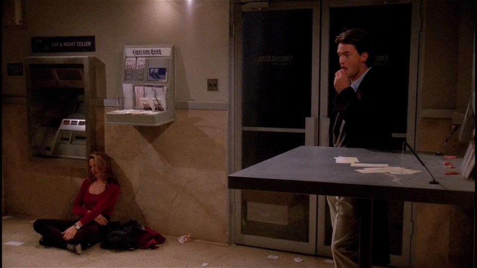<p> A Friends classic, from early in the very first season. There&#x2019;s a power cut across most of New York, and the Friends find themselves stuck - Chandler is trapped in an ATM booth with Jill Goodacre, the model, and the rest are stranded in Monica&#x2019;s apartment with a dwindling supply of candles. Chandler gets the more heartwarming story, as Jill warms to his goofy brand of humour after she saves him from choking on a piece of (someone else&#x2019;s) chewing gum. Meanwhile, Rachel meets Paolo and ends up kissing him when the candles burn out, giving Ross a sickening shock when the power comes back on. Poor guy. </p> <p> <strong>Best line:</strong>&#xA0;Ross<strong>:</strong>&#xA0;Do you know the word, &apos;crapweasel&apos;?<br> Paolo: No.<br> Ross: That&apos;s funny, &apos;cause you are a&#xA0;<em>huge</em>&#xA0;crapweasel! </p>