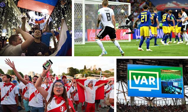 Russia fans have embraced their revitalised team, Toni Kroos sparked wild celebrations with his winning goal, Peru fans have enjoyed the World Cup despite results and VAR has worked well.