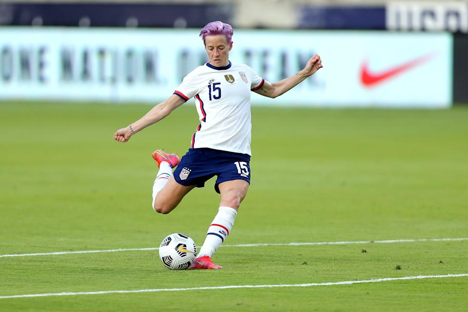 United States forward Megan Rapinoe has been the voice for the women's national team in its fight for equal pay.