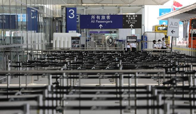 Arrivals to Hong Kong have largely collapsed in the wake of tough global travel restrictions due to the coronavirus. Photo: May Tse
