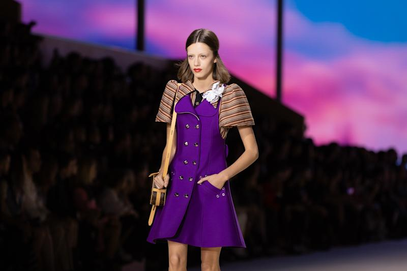 On the runway at the Louis Vuitton SS20 show during Paris Fashion Week on Tuesday, October 1st, 2019. Photograph by Serichai Traipoom for W Magazine.