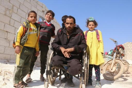 Ibrahim al-Ali and his family are among nearly one million people who have been displaced in northwestern Syria since December by a Russia-backed regime offensive