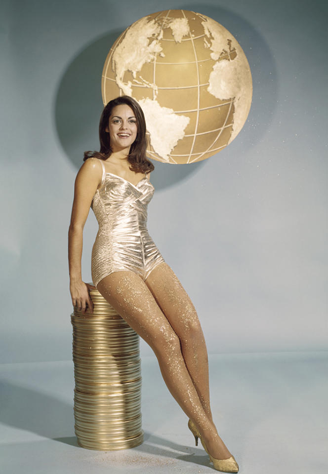 <p>The former Miss Universe from Greece parlayed her good looks into a string of guest roles on TV series and a supporting turn as a Native American in 'A Man Called Horse' (1970). (Photo: Paul W. Bailey/NBC/Getty Images) </p>