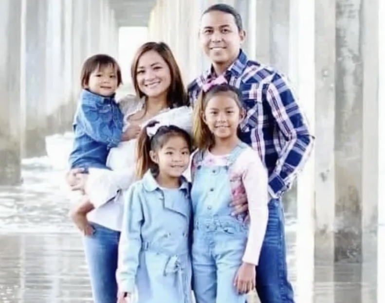 Maya Millete pictured with husband Larry and some children.