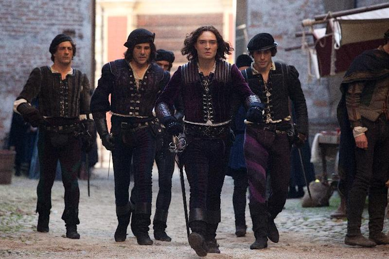 "This image released by Relativity Media shows Ed Westwick, foreground, in a scene from ""Romeo and Juliet."" (AP Photo/Relativity Media, Philippe Antonello)"