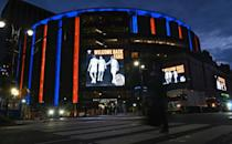 View of Madison Square Garden prior to the New York Knicks against Golden State Warriors basketball game on February 23, 2021 in New York City