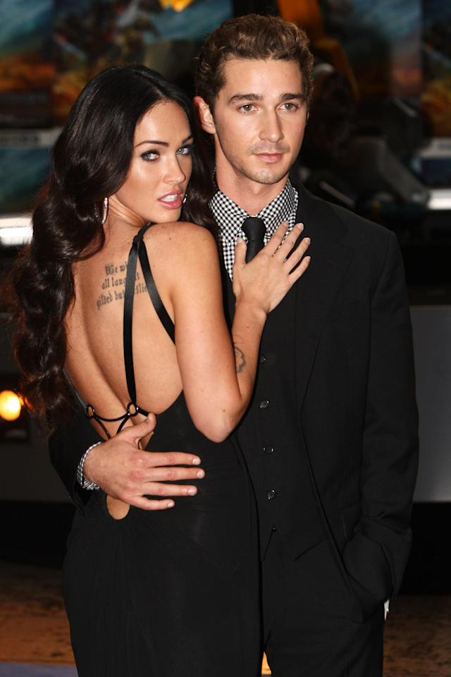 Megan Fox and Shia LaBeouf attend the London premiere of <em>Transformers: Revenge of the Fallen</em> on June 15, 2009. (Photo: Getty Images)