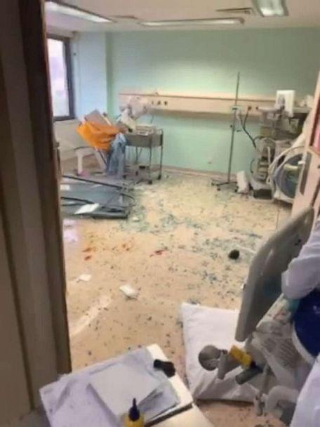 PHOTO: George Khnaisser came into the world on Aug. 4, one hour after the explosion in Beirut, Lebanon. Dad Edmond Khnaisser filmed as windows shattered and debris ripped through the facility at approximately 6:00 p.m. (Edmond Khnaisser)