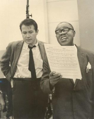 Bob Thiele and Louis Armstrong (Courtesy of the Louis Armstrong House Museum)