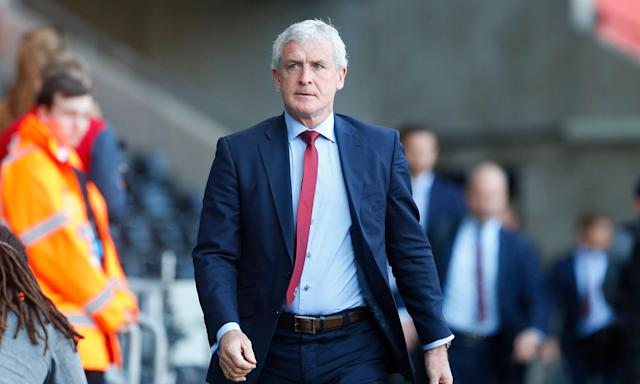 Mark Hughes said Southampton walked the last 100 yards to the Liberty Stadium before the match against Swansea to show 'we weren't going to denied and messed about'.