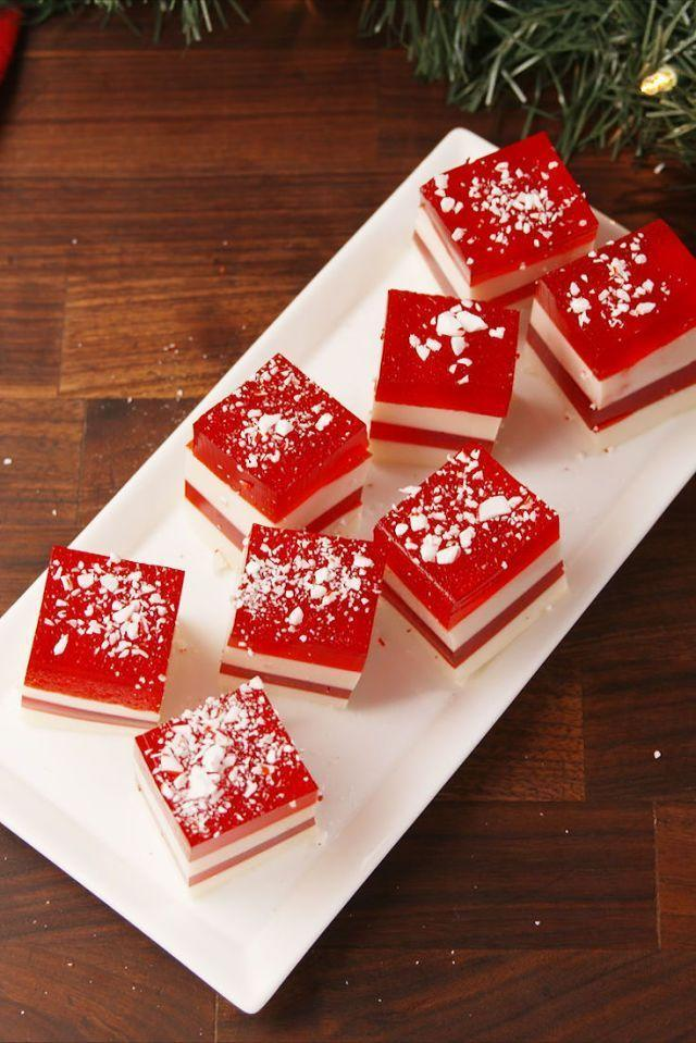 "<p>These candy cane-inspired shots are actually cherry-flavored, but their red and white layers make them look just like your (other) favorite <a href=""https://www.goodhousekeeping.com/holidays/christmas-ideas/g4018/christmas-treats/"" rel=""nofollow noopener"" target=""_blank"" data-ylk=""slk:Christmas treat"" class=""link rapid-noclick-resp"">Christmas treat</a>.</p><p><a href=""https://www.delish.com/cooking/recipe-ideas/recipes/a57096/candy-cane-jell-o-shots-recipe/"" rel=""nofollow noopener"" target=""_blank"" data-ylk=""slk:Get the recipe from Delish »"" class=""link rapid-noclick-resp""><em>Get the recipe from Delish »</em></a></p>"