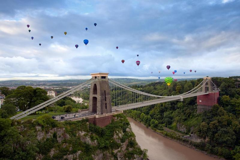 You may not be there for the Balloon Fiesta but a hot air balloon ride is the best way to see the Clifton Suspension Bridge (Gary Newman)