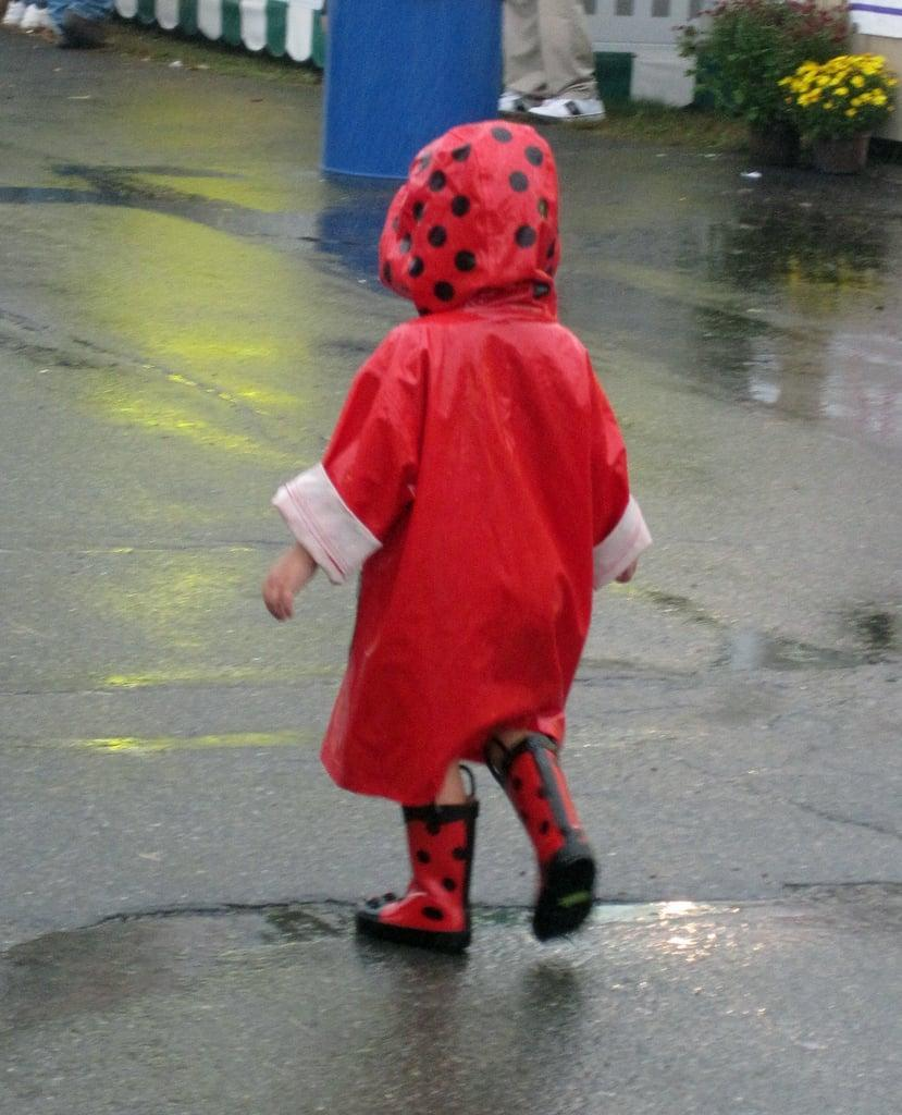 <p>If cabin fever has everyone feeling a little antsy, then suit up in your best rain gear and get outside! A rainy walk or some puddle-splashing fun will use up excess energy, and afterward, a warm bath and cozy PJs will feel just great. </p>