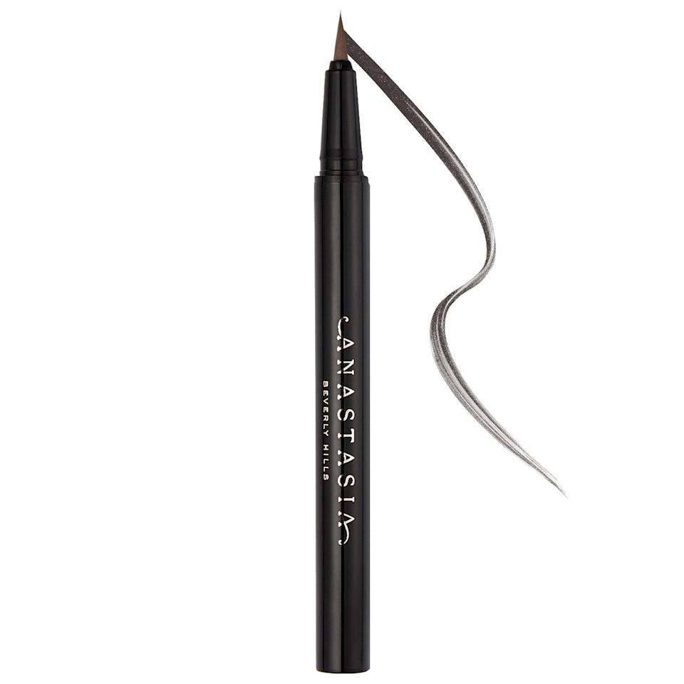 <p>While pencils and gels are often used to shape brows, this new <span>Anastasia Beverly Hills Micro-Stroking Detailing Brow Pen</span> ($22) boasts a fine pen point so you can draw tiny, hair-like lines with more precision than a softer pencil end makes possible. </p>