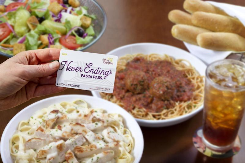 Olive Garden shared a super-cryptic message about this year's Pasta Pass