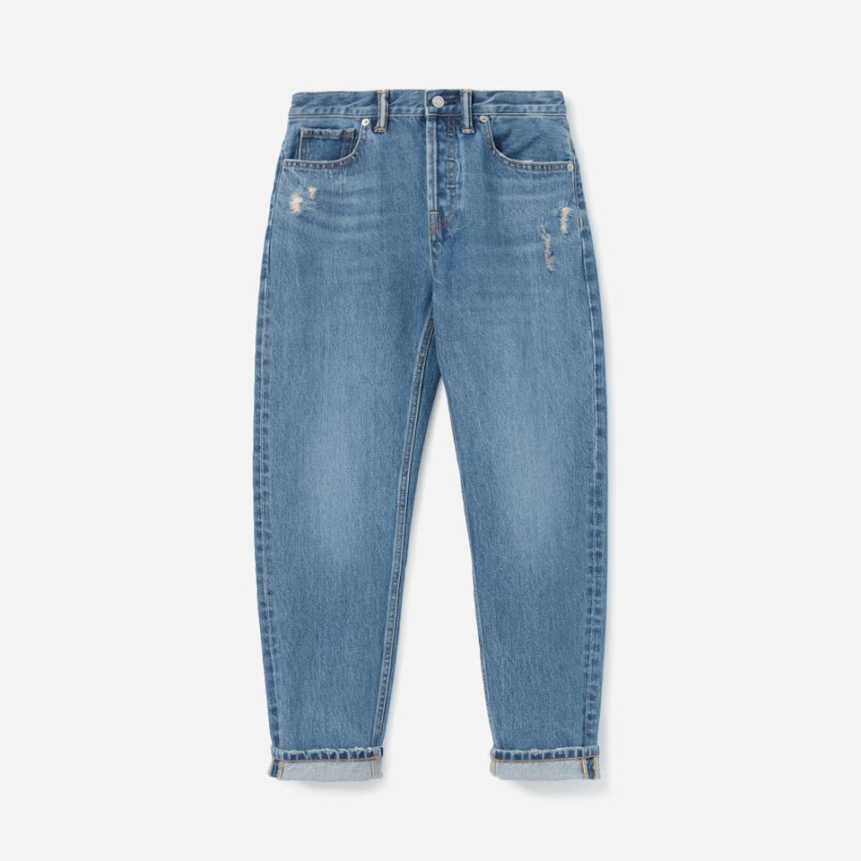 "<p>This pair of boyfriend jeans is made of a nonstretch Japanese fabric and features slight distressing along the pockets for a worn-in vintage feel.<br /><a rel=""nofollow"" href=""https://fave.co/2OvgDAV""><strong>Shop it</strong>:</a> Everlane Relaxed Boyfriend Jean, $50 (originally $78), <a rel=""nofollow"" href=""https://fave.co/2OvgDAV"">everlane.com</a> </p>"