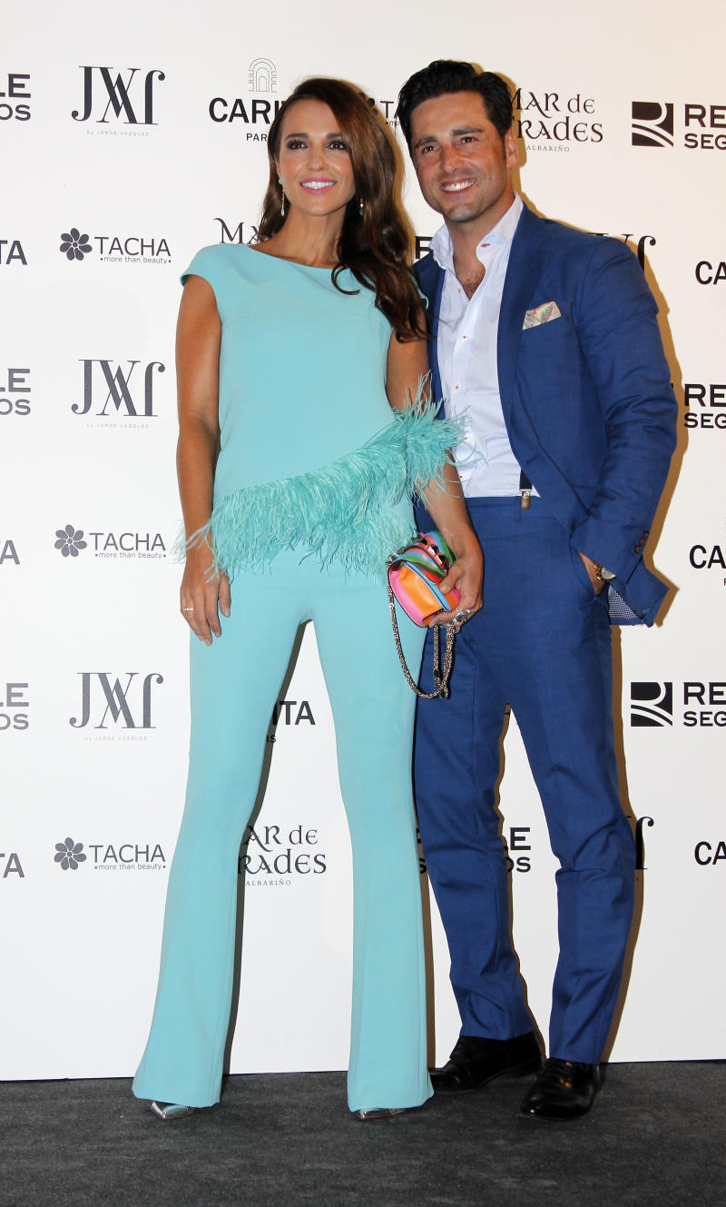 MADRID, SPAIN - SEPTEMBER 22: Paula Echevarria and David Bustamante attend Jorge Vazquez Fashion Show on September 22, 2015 in Madrid, Spain. (Photo by Europa Press/Europa Press via Getty Images)