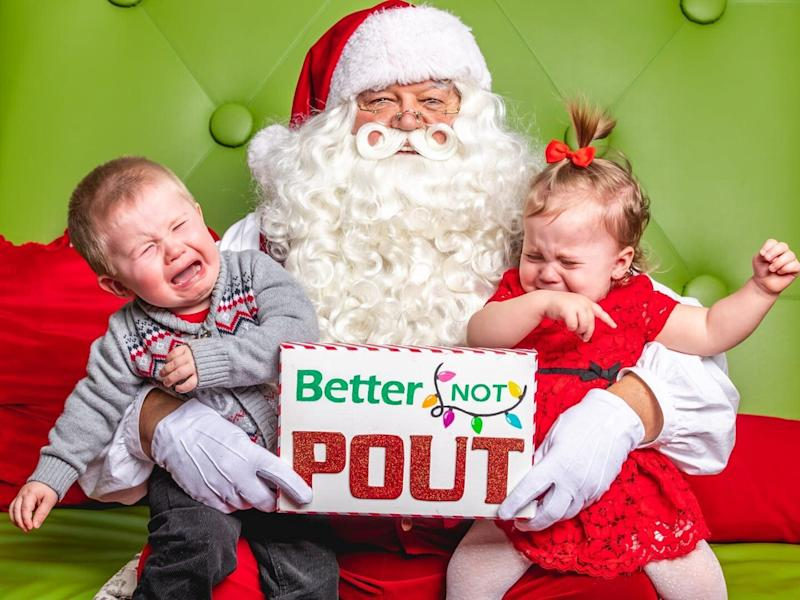 """We passed the twins to Santa and they started crying instantly so Santa calmly said, 'We have a sign for that!' says Ottawa's Amanda Harsh, mom of twins Rylynn and Parker."