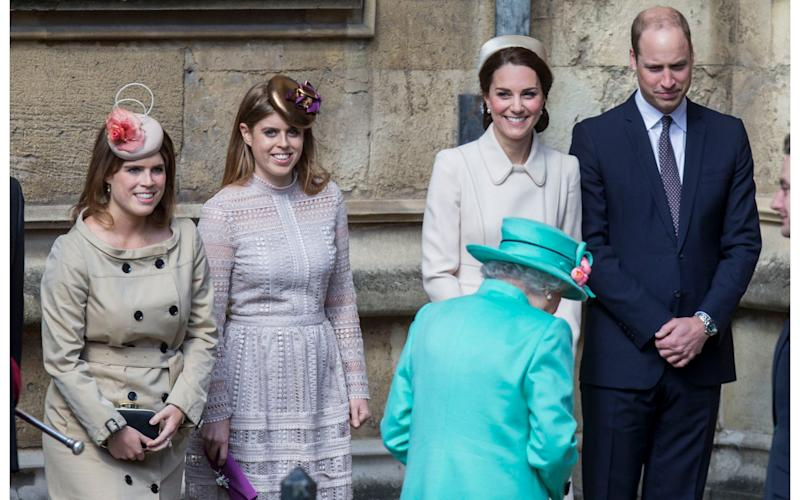 Members of the Royal Family join the Queen and Duke of Edinburgh for the Easter Service at Windsor Castle. - Credit: Rupert Hartley/DHT