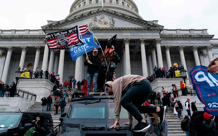 No National Guard were present as Trump supporters breach security at Capitol Jan 6, 2021 - Alex Edelman/AFP