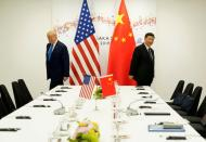FILE PHOTO: U.S. President Donald Trump attends a bilateral meeting with China's President Xi Jinping during the 2019 G20 leaders summit in Osaka, Japan