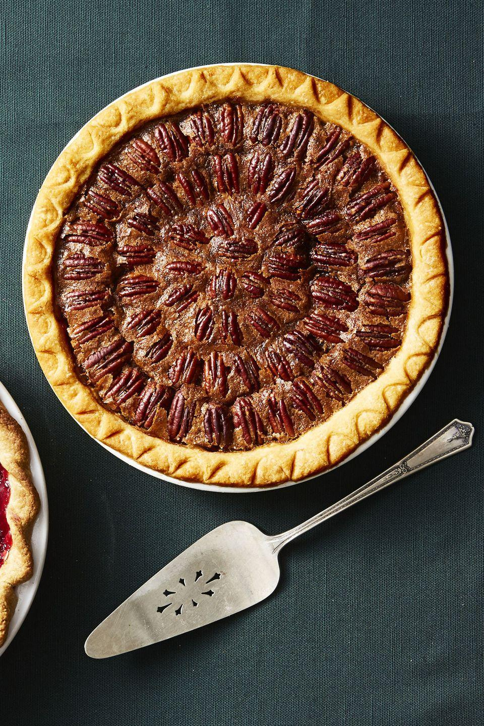 "<p>Looking for a pecan pie recipe without corn syrup? Our brown sugar-maple syrup version is sticky, sweet, and irresistible.</p><p><em><a href=""https://www.goodhousekeeping.com/food-recipes/a10478/brown-sugar-pecan-pie-recipe-ghk1110/"" rel=""nofollow noopener"" target=""_blank"" data-ylk=""slk:Get the recipe for Brown Sugar Pecan Pie »"" class=""link rapid-noclick-resp"">Get the recipe for Brown Sugar Pecan Pie »</a></em></p><p><strong>RELATED:</strong> <a href=""https://www.goodhousekeeping.com/health/diet-nutrition/a47166/health-benefits-of-pecans/"" rel=""nofollow noopener"" target=""_blank"" data-ylk=""slk:9 Health Benefits of Pecans That'll Make You Go Nuts"" class=""link rapid-noclick-resp"">9 Health Benefits of Pecans That'll Make You Go Nuts</a><br></p>"