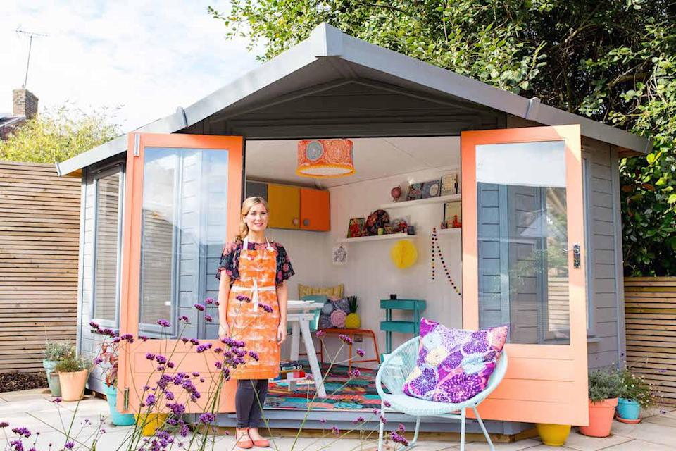 <p>WORKSHOP & STUDIO:<br>Rainbow Dream – owned by Rachael Taylor in Liverpool, Merseyside (Picture: Shed of the Year) </p>