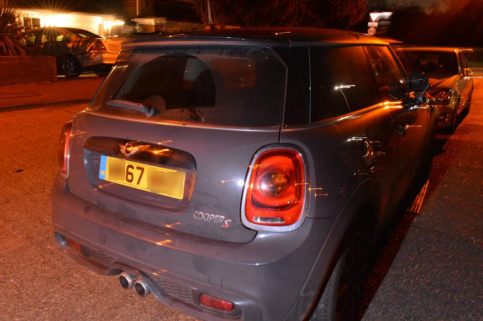 Police released this photo of a grey Mini Cooper that was involved in a collision Jon Casey. (PA)