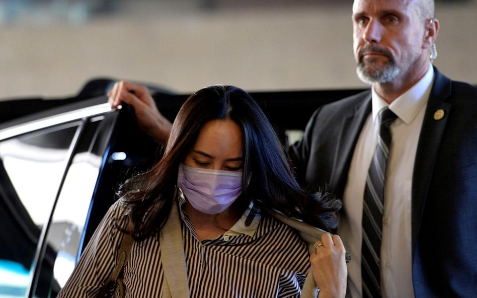 Meng Wanzhou arrives at a court hearing in Vancouver - JENNIFER GAUTHIER/REUTERS