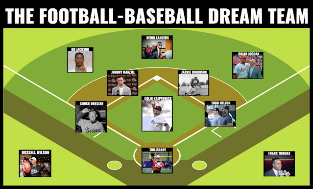 The ultimate football-baseball dream team. (Yahoo Sports)