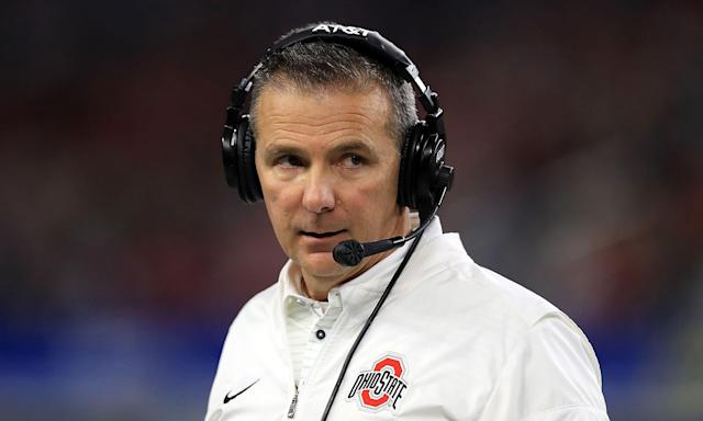 Ohio State football coach Urban Meyer looks on during a Buckeyes game.  (Getty Images)