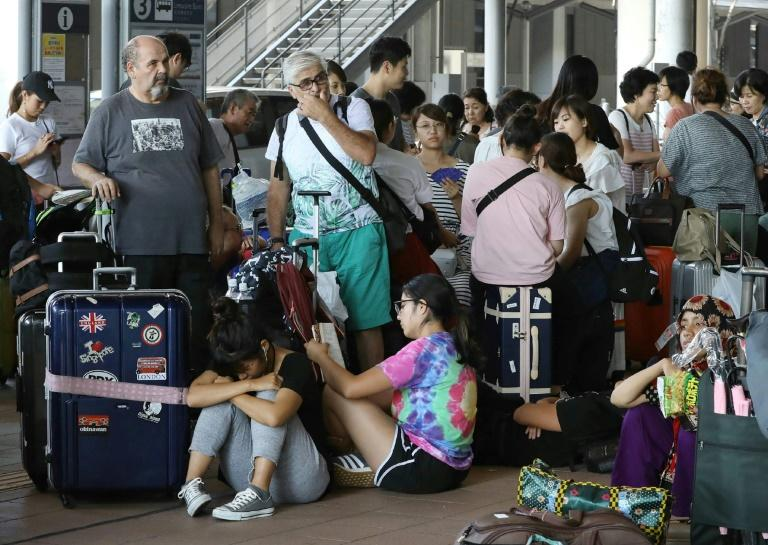 Thousands were left stranded at the airport