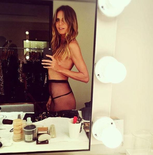 Back in July, she posted this sexy snap from her bathroom. Photo: Instagram/Heidi Klum