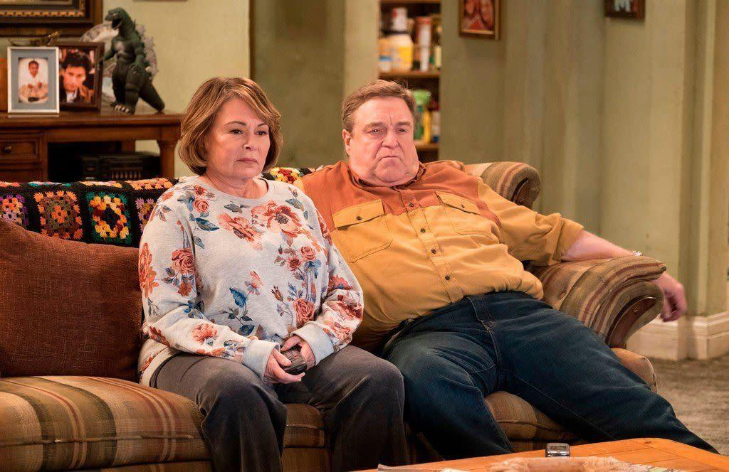 """""""Roseanne"""" was swiftly canceled after the lead star's racist tweet about former Obama aide Valerie Jarrett. (Photo: ABC)"""