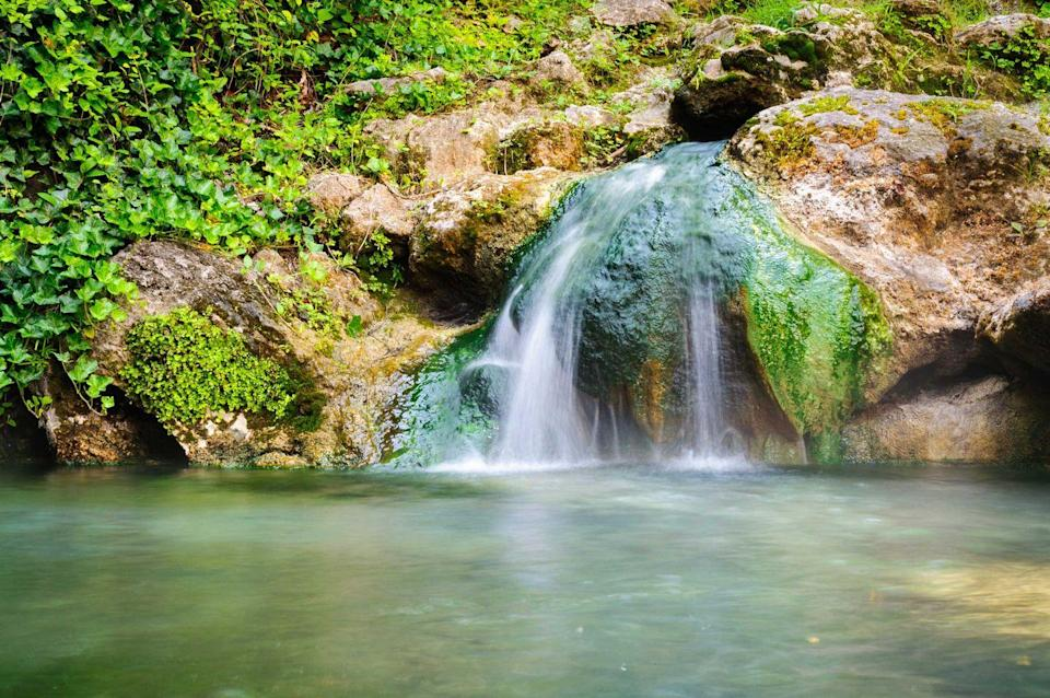 """<p><strong>Hot Springs National Park</strong></p><p>In Hot Springs, Arkansas, this <a href=""""https://www.nps.gov/hosp/index.htm"""" rel=""""nofollow noopener"""" target=""""_blank"""" data-ylk=""""slk:National Park"""" class=""""link rapid-noclick-resp"""">National Park</a> with a rich cultural past stands as a pillar for healing and a tribute to the """"American Spa"""" of the 20th century. With nine historic bathhouses, ancient thermal springs, mountain views and forested hikes, it's a balance of adventure and history.</p>"""