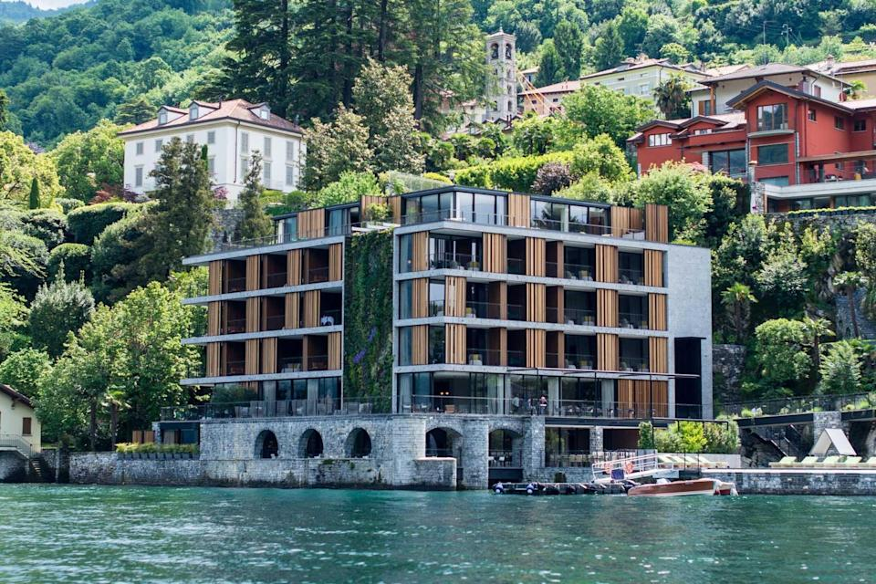 Exterior of the lakeside Il Sereno Lago di Como, voted one of the best hotels in the world