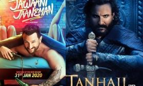Saif Ali Khan's 'Jawaani Jaaneman' and 'Tanhaji: The Unsung Warrior' to release in one month