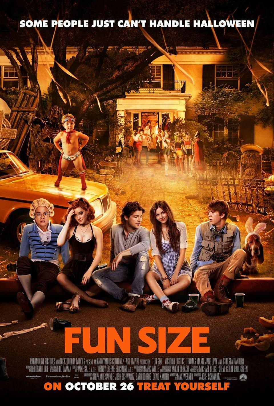 """<p><em>Fun Size </em>is the perfect Halloween comedy if you're looking to laugh while eating all of your trick-or-treat goodies. It stars Victoria Justice as Wren, who is forced to babysit her little brother on Halloween. When he does missing, she must skip the party of the year in order to find him, but things get super complicated super quickly. </p><p><a class=""""link rapid-noclick-resp"""" href=""""https://www.amazon.com/Fun-Size-Victoria-Justice/dp/B08FF62BVX/?tag=syn-yahoo-20&ascsubtag=%5Bartid%7C10065.g.29354714%5Bsrc%7Cyahoo-us"""" rel=""""nofollow noopener"""" target=""""_blank"""" data-ylk=""""slk:Watch Now"""">Watch Now</a></p>"""