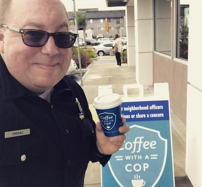 2019 Axon RISE Award for Community Commitment recipient, Chris Cognac, Founder of Coffee With a Cop
